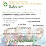 Program rozwojowy szkół podstawowych z Gminy Laszki – Szkoła+